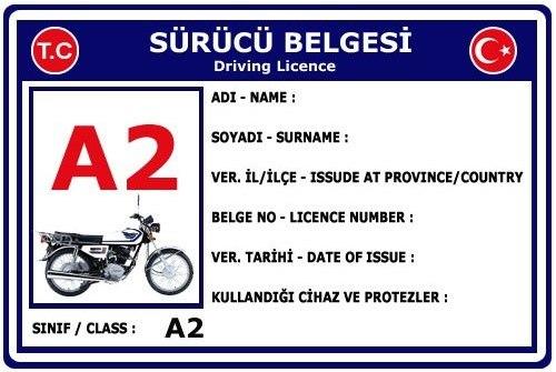 A2 SINIFI MOTORSİKLET EHLİYETİ