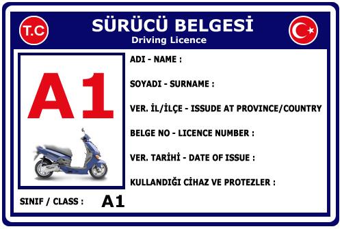 A1 SINIFI MOTORSİKLET EHLİYETİ